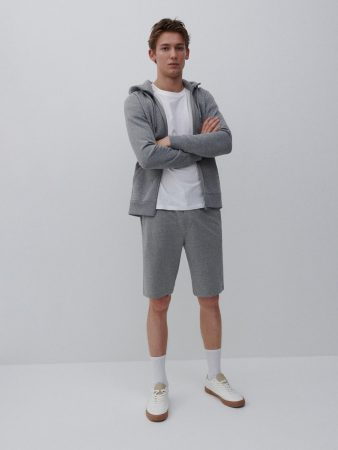 Mens Basic Sweat Shorts Light Grey | Reserved Tracksuits