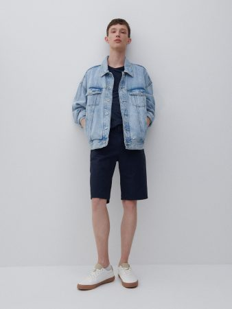 Mens Classic Design Cotton Shorts Navy | Reserved Shorts