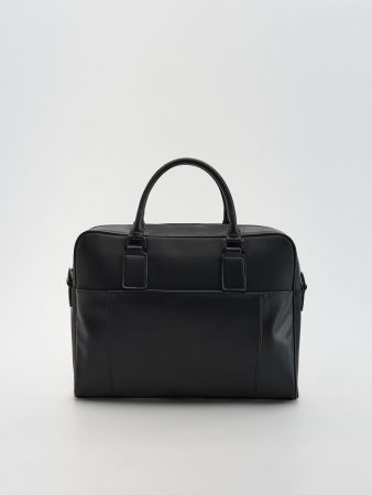 Mens Combined Materials Bag Black | Reserved Bags, Toiletry Bags