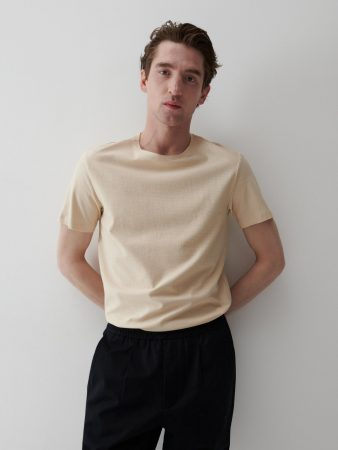 Mens Cotton T-Shirt Beige | Reserved T-Shirts