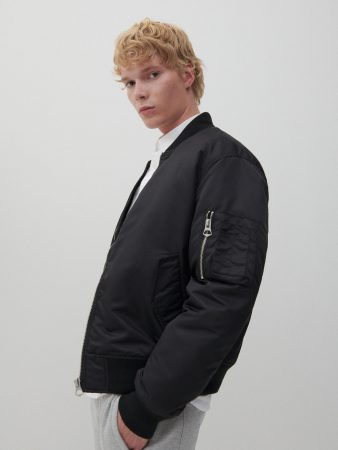 Mens Insulated Bomber Jacket Black | Reserved Coats, Jackets, Puffer Jackets