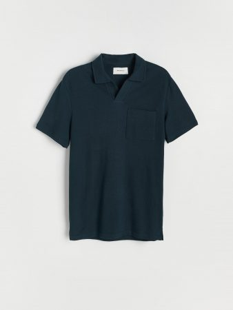 Mens Minimalist Style Polo Shirt Navy | Reserved Polo Shirts