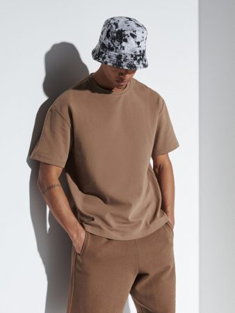 Mens Oversize T-Shirt Brown   Reserved T-Shirts