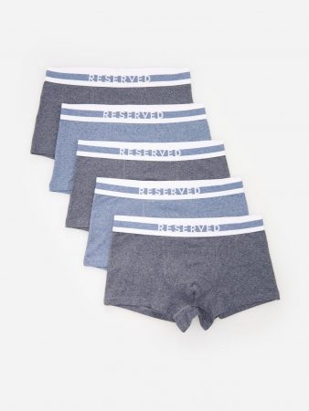 Mens Pack Of 5 Pairs Of Boxer Shorts Navy | Reserved Underwear