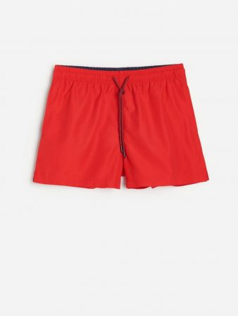 Mens Recycled Fabric Beach Shorts Red | Reserved Swimwear