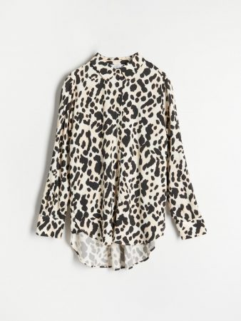 Womens Animal Print Blouse Beige | Reserved Shirts