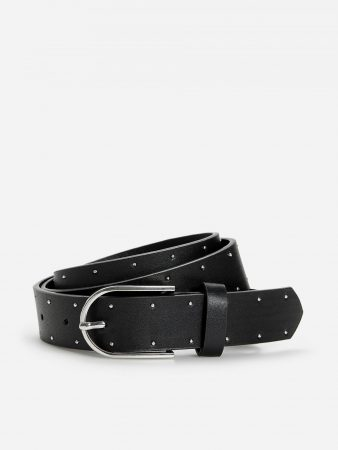 Womens Belt With Decorative Studs Black | Reserved Belts