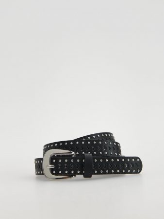 Womens Belt With Rivets Black | Reserved Belts