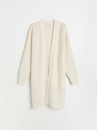 Womens Chunky Jersey Cardigan Ivory | Reserved Jumpers, Cardigans