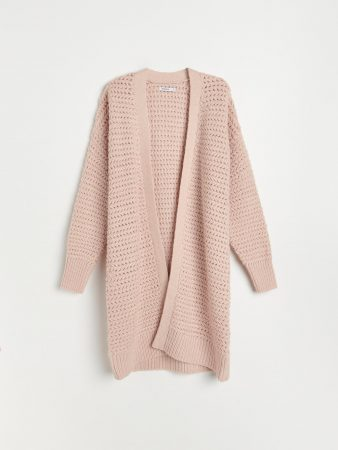 Womens Chunky Jersey Cardigan Pink | Reserved Jumpers, Cardigans