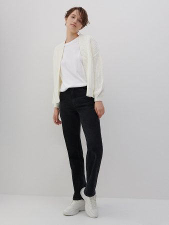 Womens Cropped Cardigan Ivory | Reserved Jumpers, Cardigans