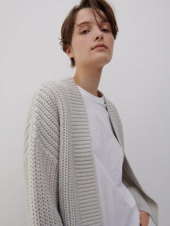 Womens Cropped Cardigan Light Grey | Reserved Jumpers, Cardigans