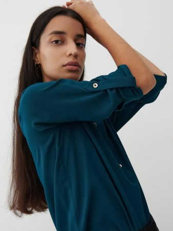 Womens Ecovero™ Plain Shirt Turquoise | Reserved Blouses