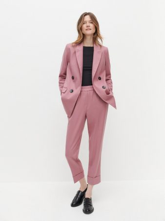 Womens Elastic Waist Suit Trousers Multicolor   Reserved Trousers