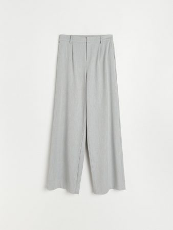 Womens Elegant Trousers Light Grey | Reserved Trousers