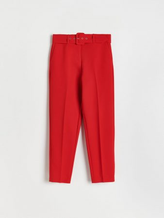 Womens Elegant Trousers With Pressed Crease Red | Reserved Trousers