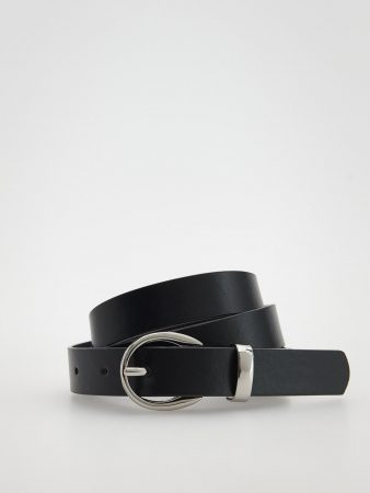 Womens Faux Leather Belt Black | Reserved Belts