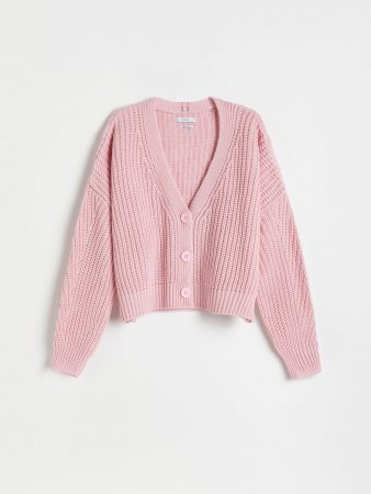 Womens Fluffy Cardigan Pink | Reserved Jumpers, Cardigans