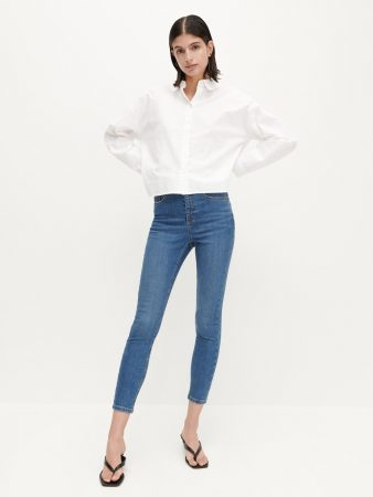 Womens High-Waisted Jeans Blue | Reserved Jeans