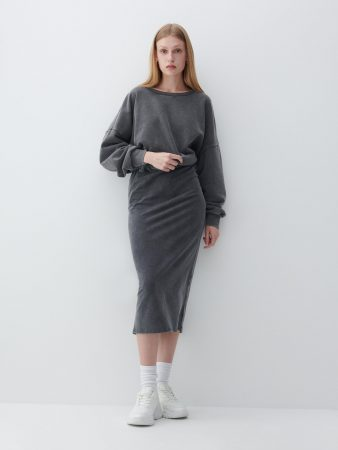Womens Jersey Skirt Grey | Reserved Skirts