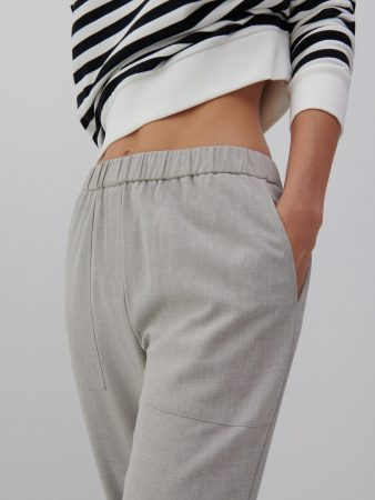 Womens Jogger Trousers Light Grey | Reserved Trousers