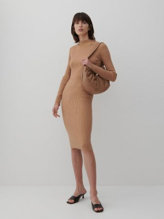 Womens Ladies` Dress Beżowy | Reserved Dresses, Jumpsuits