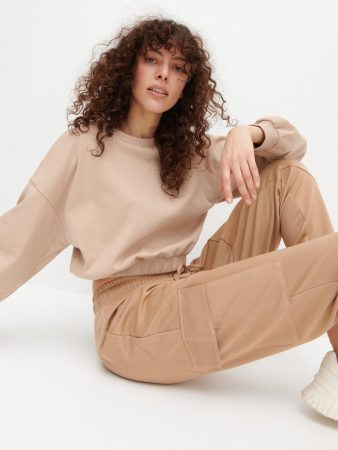 Womens Ladies` Trousers Beige | Reserved Trousers