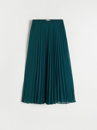 Womens Midi Pleated Skirt Turquoise | Reserved Skirts