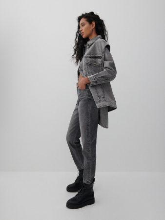 Womens Mom Jeans Grey | Reserved Jeans