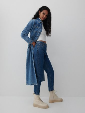 Womens Mom Jeans Navy | Reserved Jeans