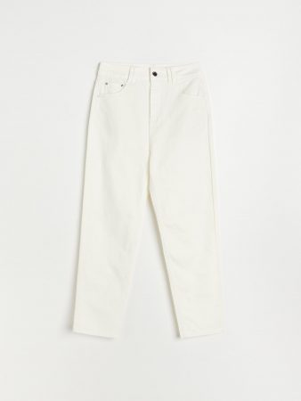Womens Mom Trousers White | Reserved Trousers