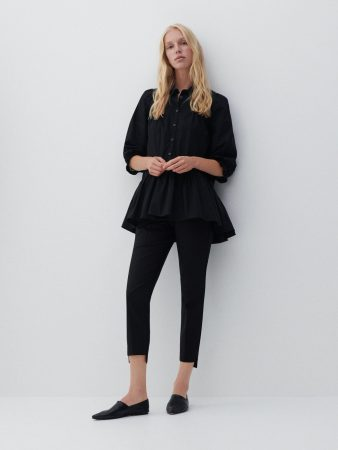 Womens Organic Cotton Blouse Black   Reserved Blouses