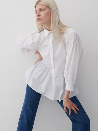 Womens Organic Cotton Blouse White   Reserved Blouses