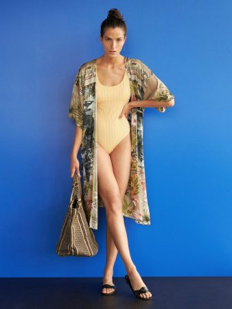 Womens Patterned Viscose Cape Multicolor | Reserved Swimwear