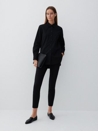 Womens Plain Chino Trousers Black | Reserved Trousers