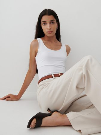 Womens Plain Top Ivory | Reserved T-Shirts, Tops