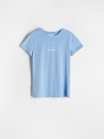 Womens Printed T-Shirt Blue | Reserved T-Shirts, Tops