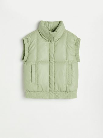 Womens Quilted Vest Green | Reserved Coats, Jackets, Puffer Jackets