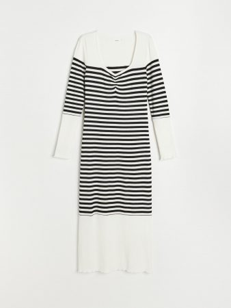 Womens Rib Knit Jersey Dress Multicolor | Reserved Dresses, Jumpsuits