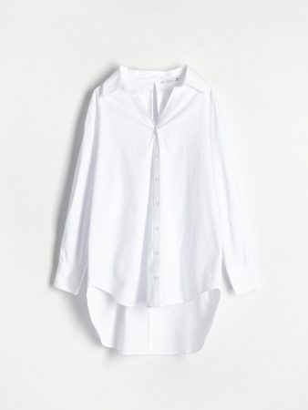 Womens Shirt With Back Tie Detail White | Reserved Shirts