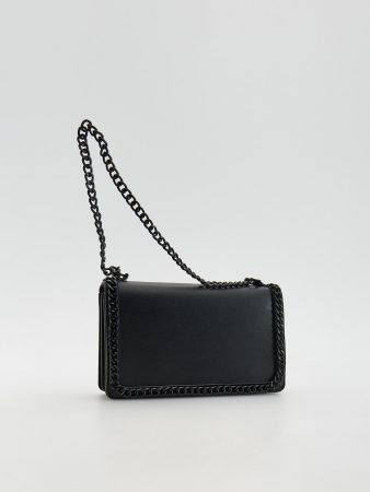 Womens Shopper Bag With Chain Detail Black | Reserved Bags, Backpacks