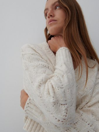 Womens Short Cardigan Ivory | Reserved Jumpers, Cardigans