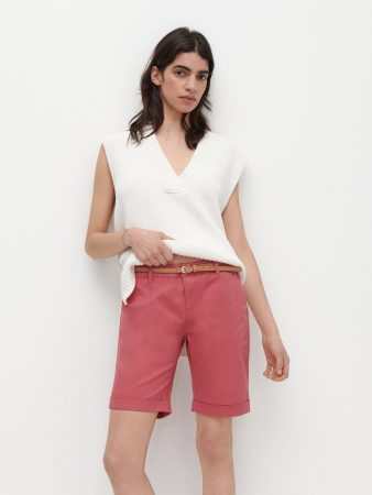 Womens Shorts With Belt Purple | Reserved Shorts