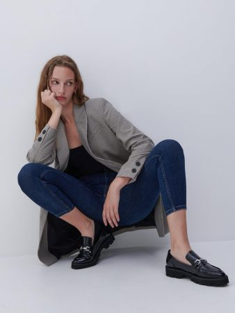 Womens Slim Jeans Navy | Reserved Jeans