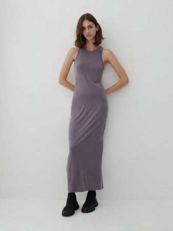 Womens Soft Jersey Maxi Dress Grey | Reserved Dresses, Jumpsuits