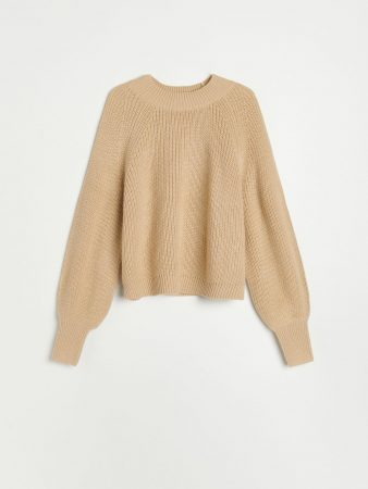 Womens Soft Knit Sweater Beige | Reserved Jumpers, Cardigans