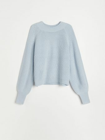 Womens Soft Knit Sweater Blue | Reserved Jumpers, Cardigans