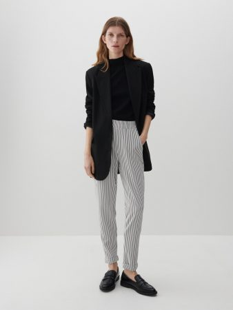 Womens Stripe Trousers Multicolor   Reserved Trousers