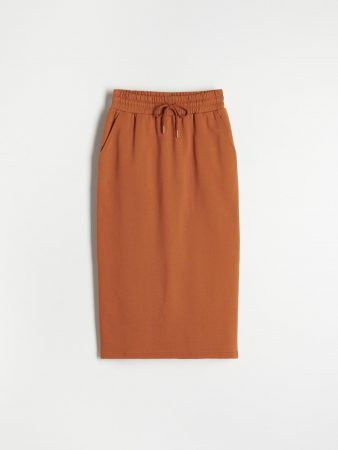 Womens Sweat Jersey Skirt Brown   Reserved Skirts
