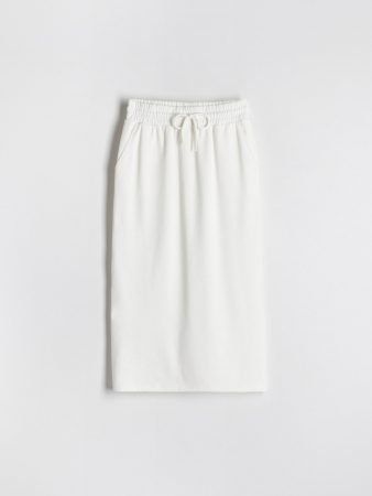 Womens Sweat Jersey Skirt Ivory | Reserved Sets, Co-Ords